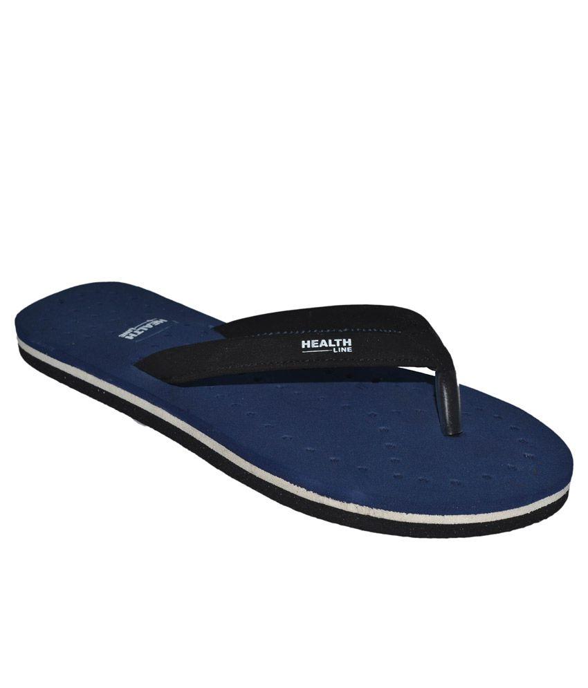 Health Line Blue Flip Flops