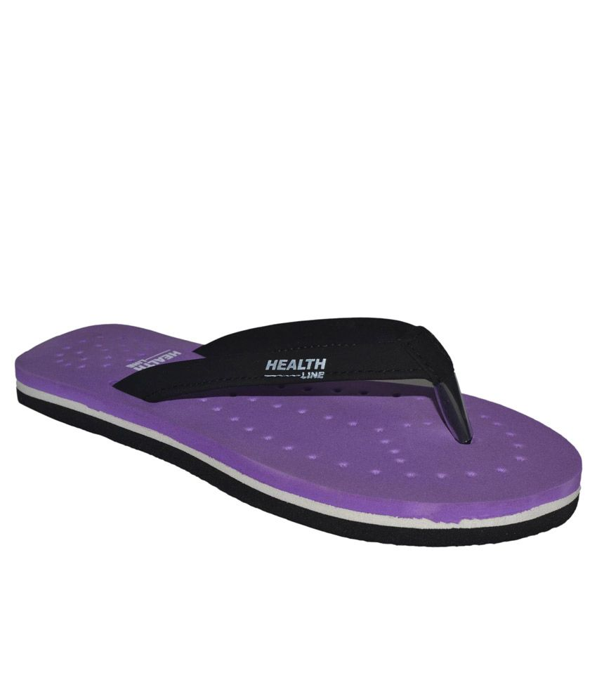 Health Line Purple Flip Flops
