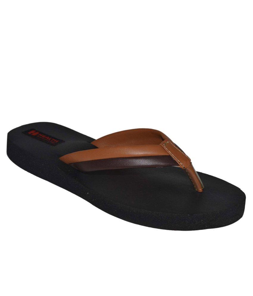 Health Line Tan Flip Flops