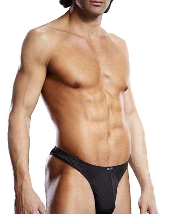 Blueline Blue Line: Men's Innerwear Performance Microfiber Thong Black L/XL