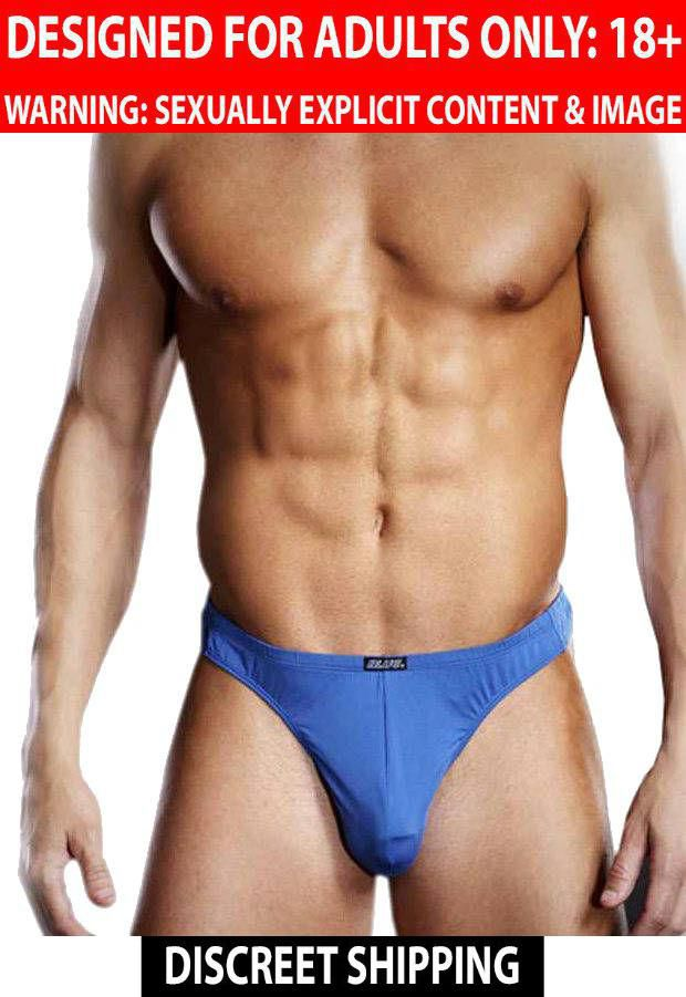 Blueline Blue Line: Men's Innerwear Performance Microfiber Thong Royal Blue S/M