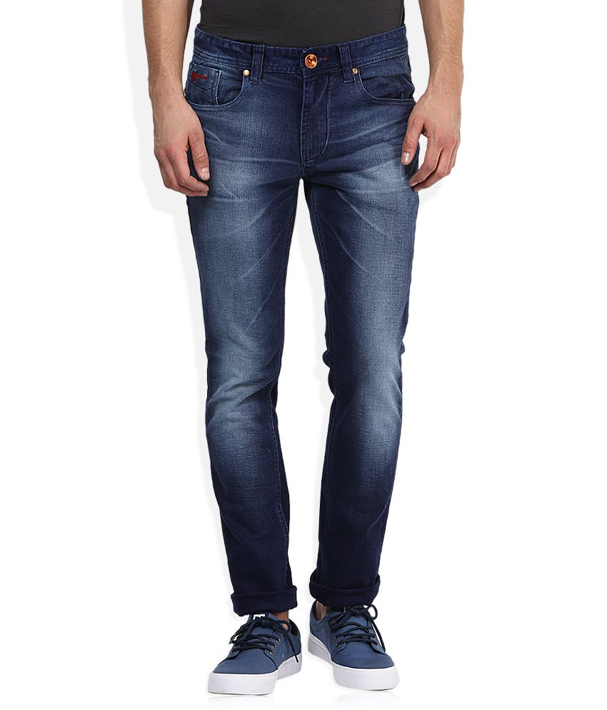 Numero Uno Feather Collection Blue Slim Fit Jeans