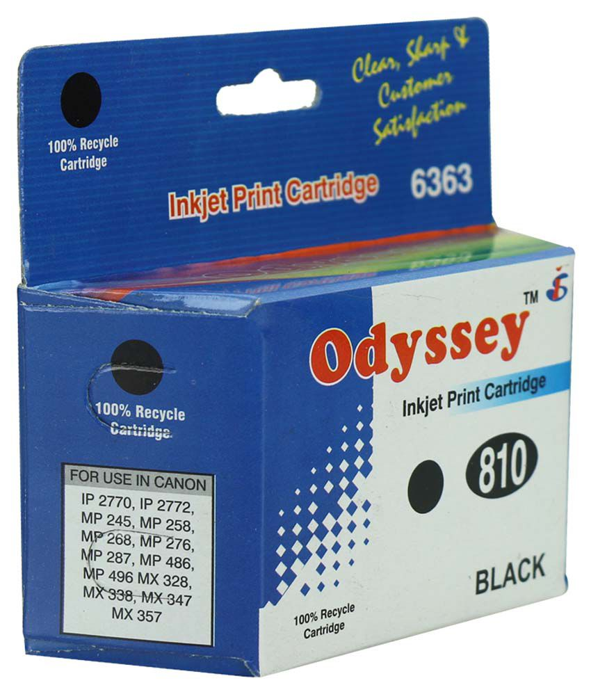 Odyssey Recycled Inkjet Printer Cartridge 810 Black For Canon Catridge Pg 47 Original 100 Ip2772 Ip2770