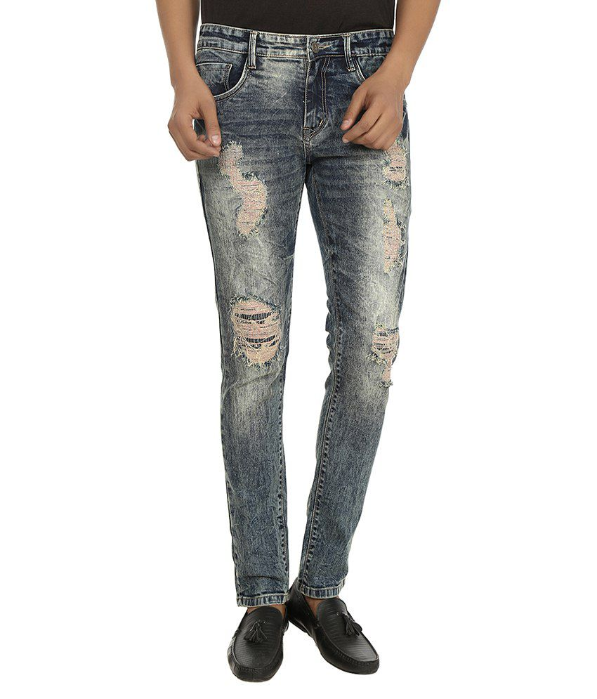 Stag By Fasnoya Black Skinny Fit Jeans