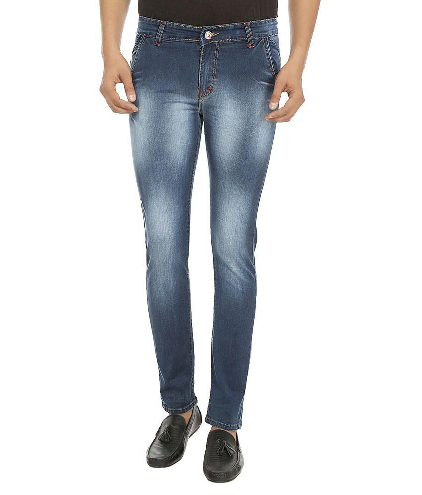 Vjs By Fasnoya Blue Skinny Fit Jeans