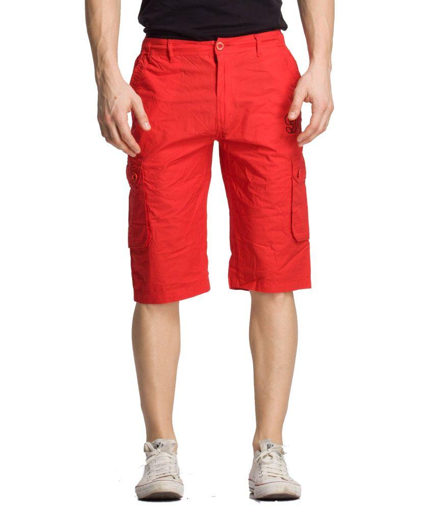 Bodymark Red Cotton Solid 3/4ths