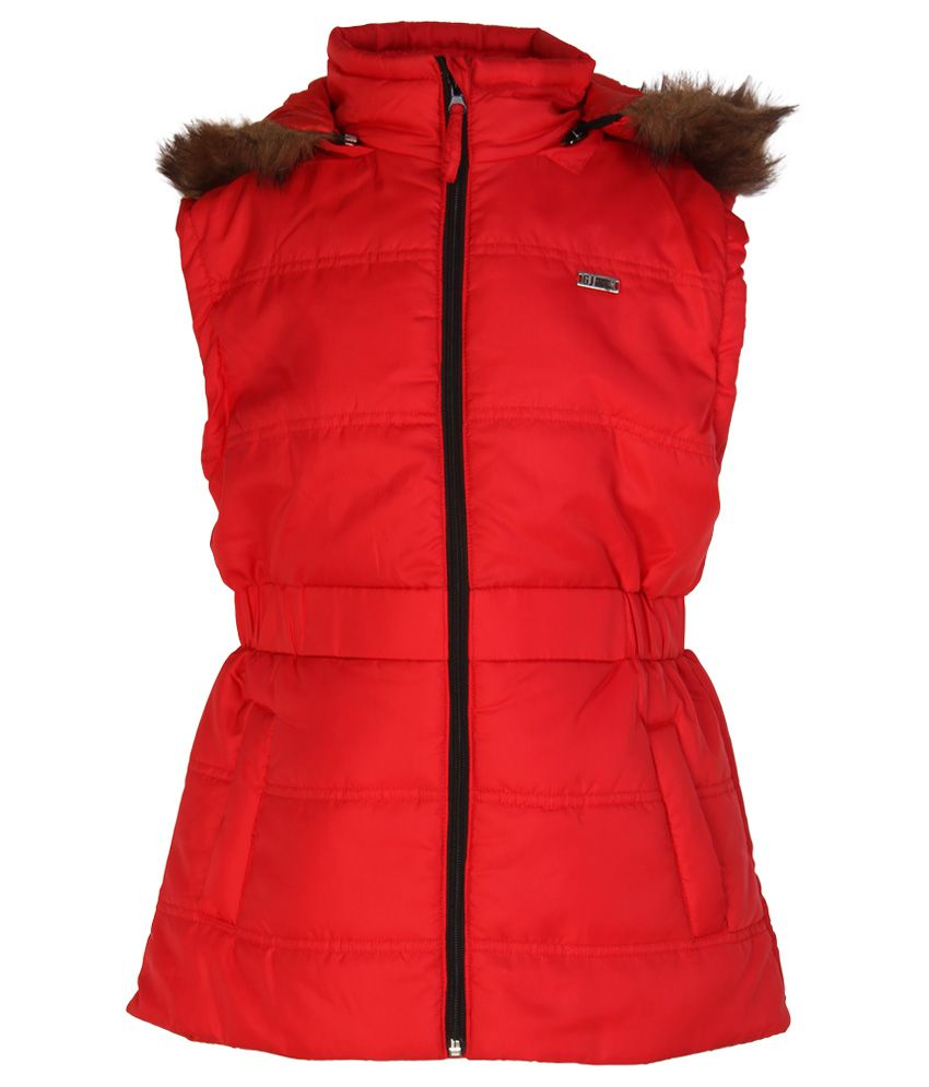 Gini & Jony Red Hooded Jacket