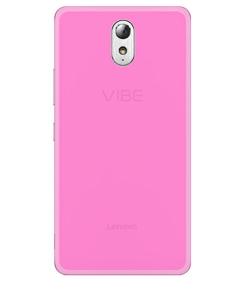 wholesale dealer a5d8d f1172 Grafins Silicon Soft Back Cover For Lenovo Vibe P1M - Pink