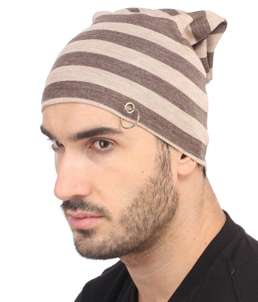a7b6d7291 Gudluk Brown Beanies Cap For Men
