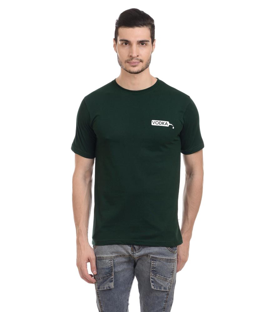 Vodka Green Cotton T-shirt