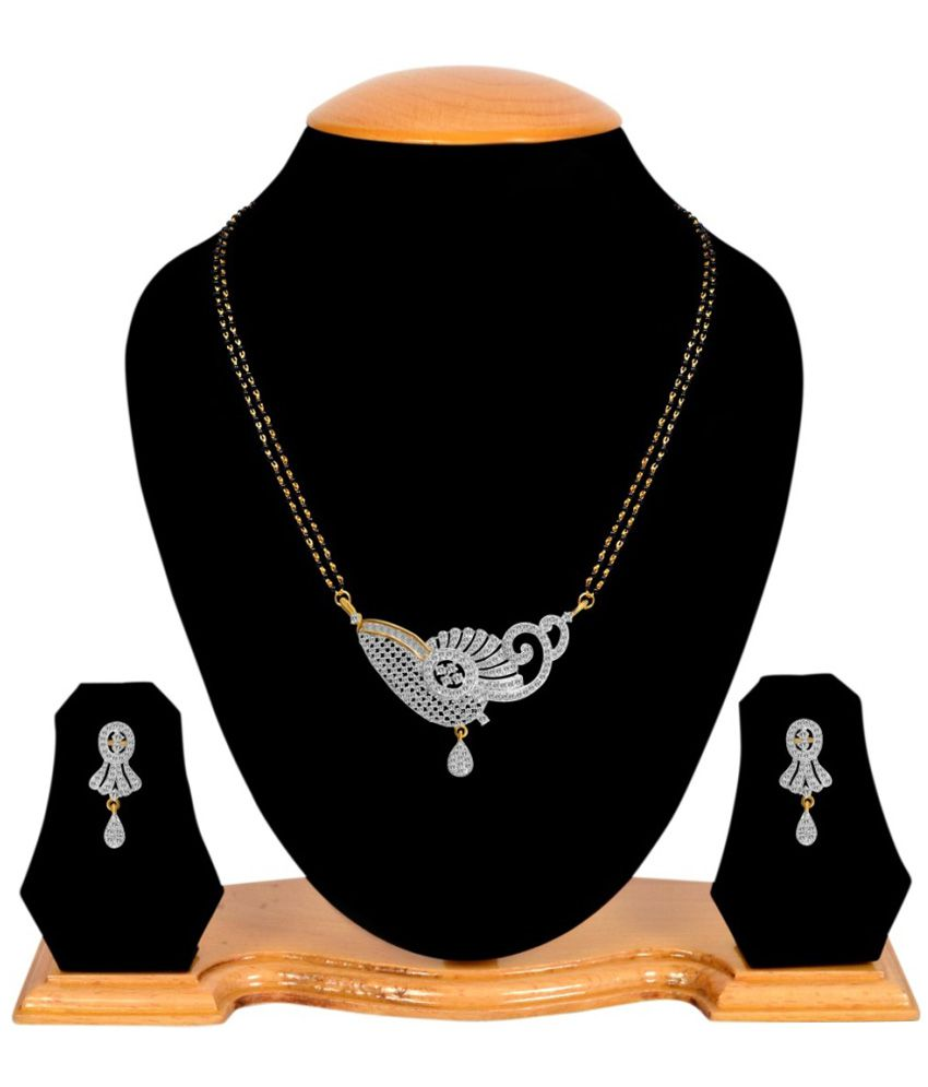 Youbella American Diamond Mangalsutra Set