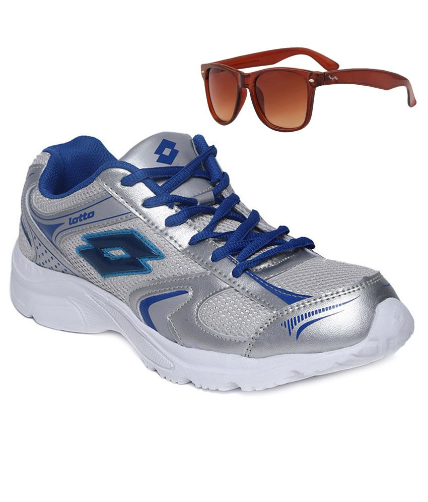 Lotto Combo Of Grey Sport Shoes And Sunglasses
