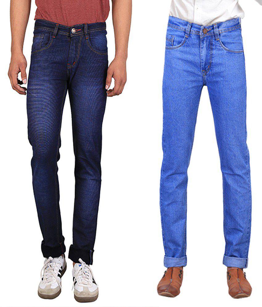 X-Cross Blue Slim Fit Jeans - Set Of 2