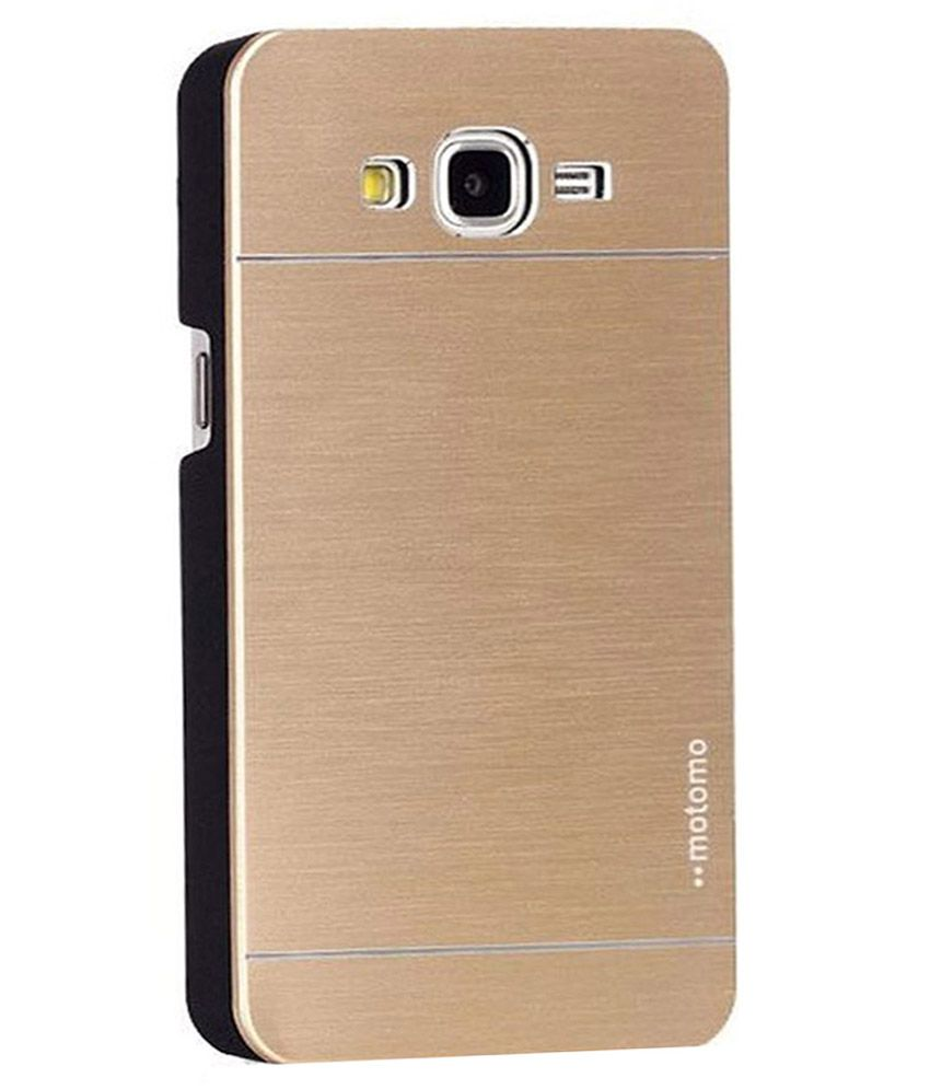 Motomo Metal Back Cover For Samsung Galaxy J7 SM-J700F - Golden - Plain Back Covers Online at Low Prices | Snapdeal India