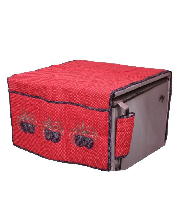 Kuber Industries 20 Inches Fridge Top Cover - Red