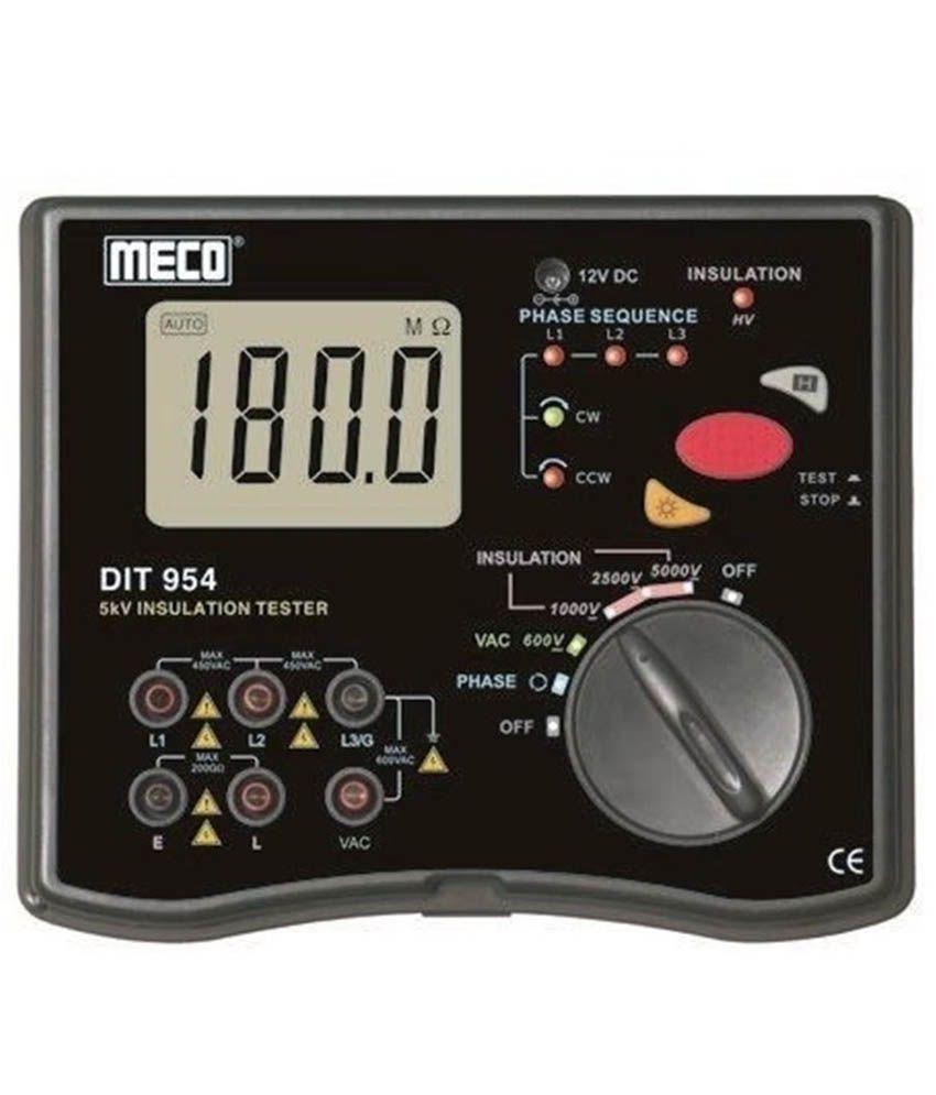 Meco DIT-954 5kV 200G Ohm 31/2 Digit LCD Display Digital Insulation Tester