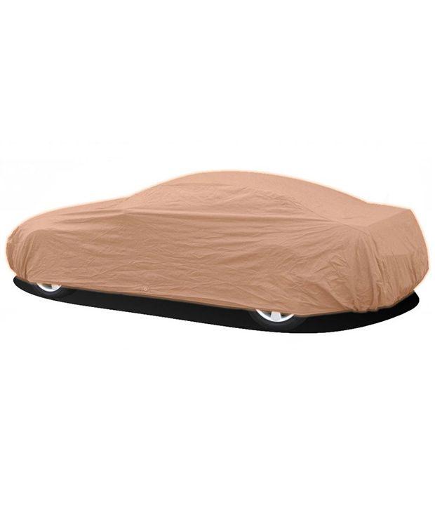Millennium Beige Polyester Car Body Cover For Maruti Alto