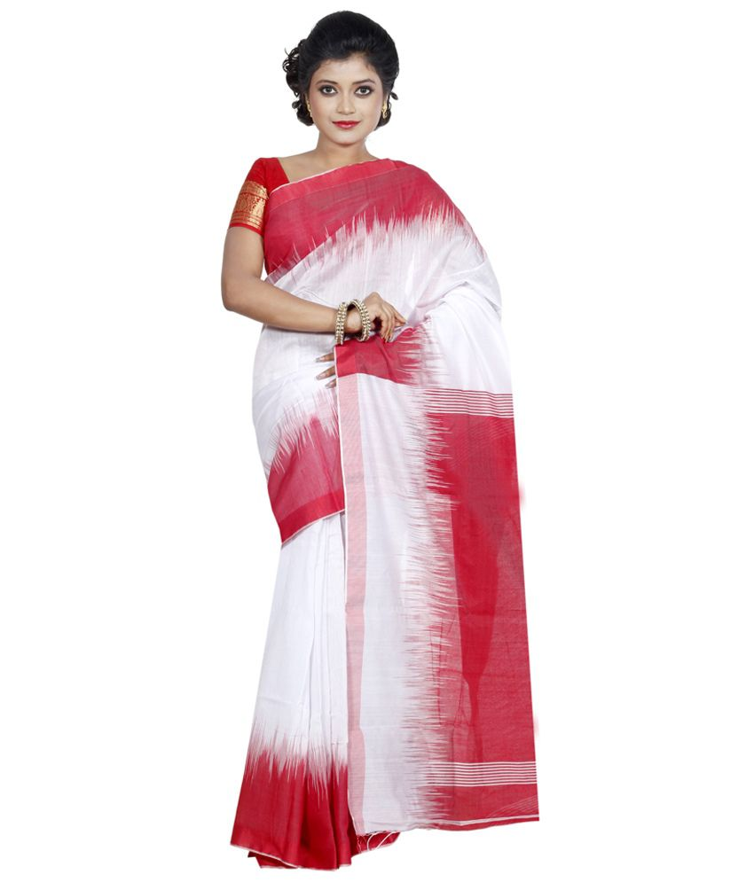 7d2b7f517d Bengal Handloom Sarees White Cotton Saree - Buy Bengal Handloom Sarees  White Cotton Saree Online at Low Price - Snapdeal.com