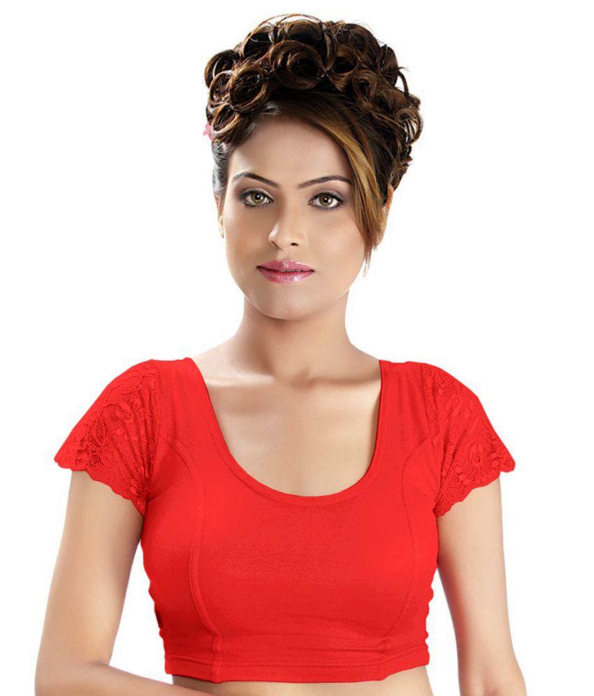 Abhi Red Net Blouses