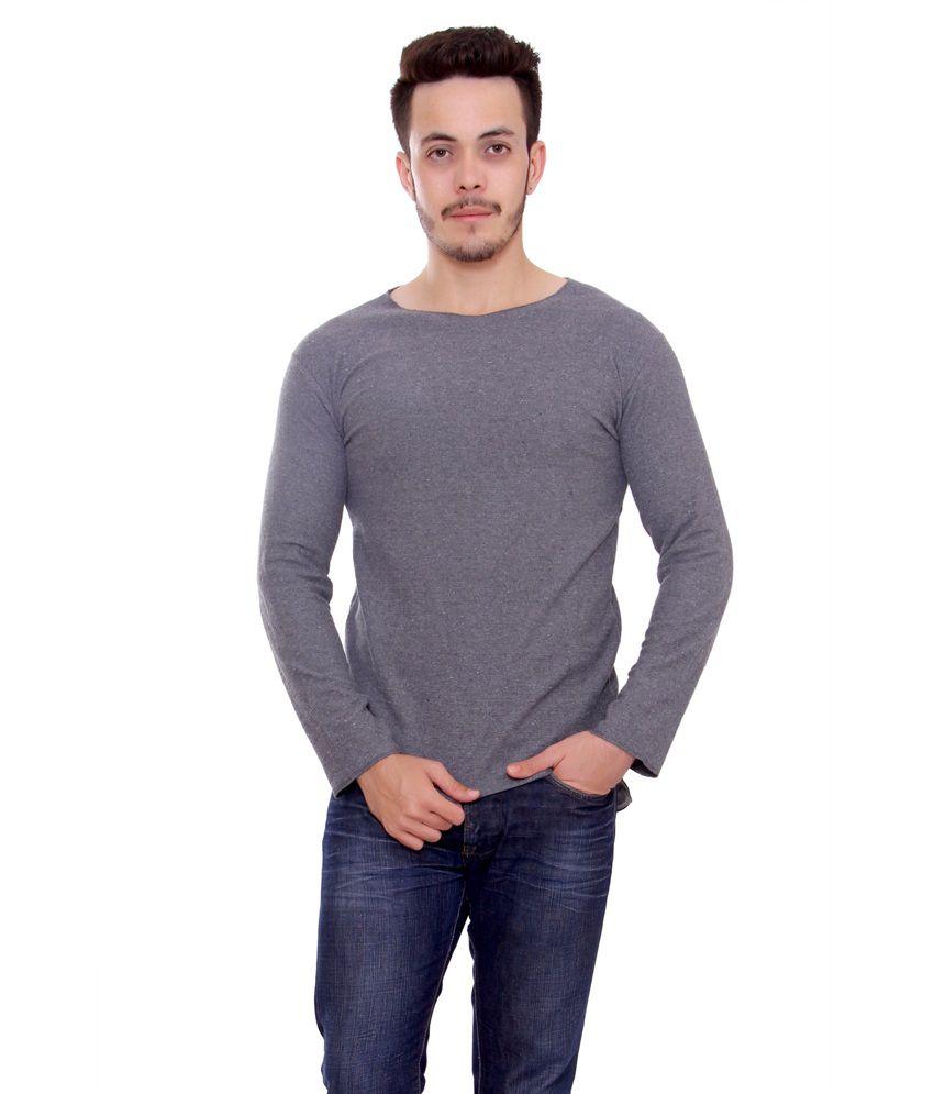 Stylum Men'sBranded Grey latest interlock Cool stylish PRE woolen T-shirt