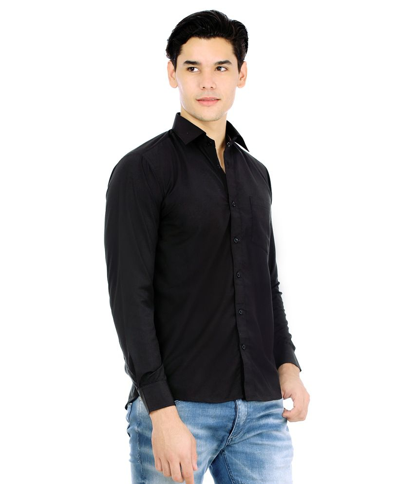 Unique For Men Black Formal Shirt With Sunglasses - Buy Unique For ...
