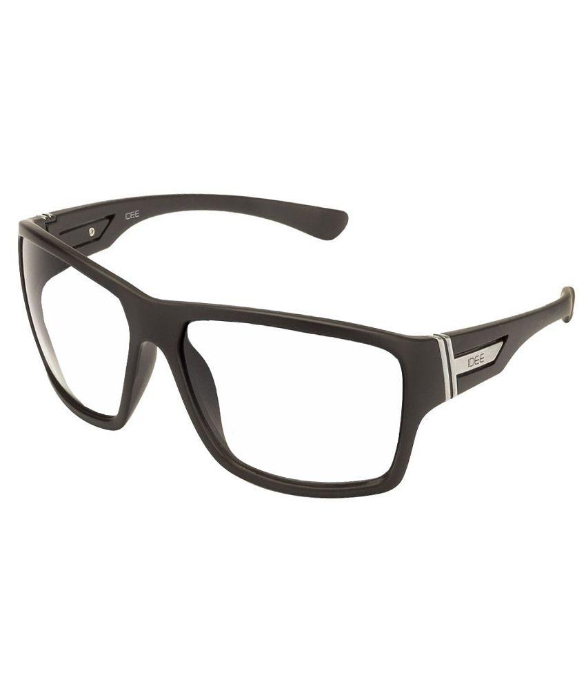 Idee White Large Unisex Rectangle Sunglasses