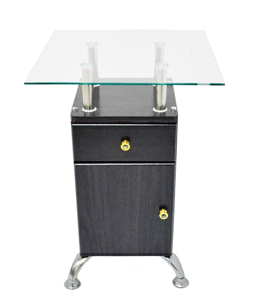Eros Telephone Stand with Storage Cabinet in Black