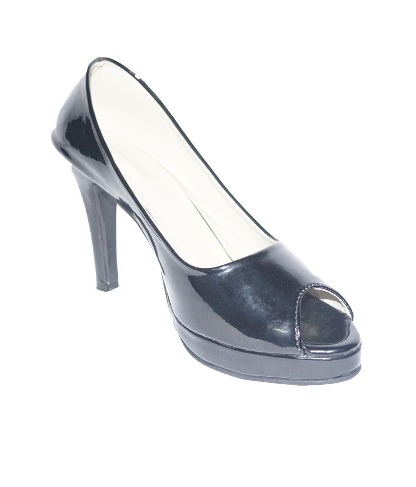 Balaji Export House Black Stiletto Heels