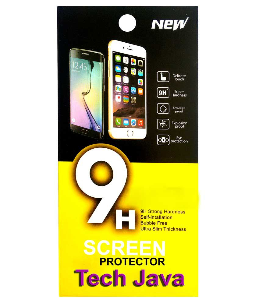 Techjava Tempered Glass Screen Guard for Micromax Canvas 2 Colors A120 With 8 GB Rom