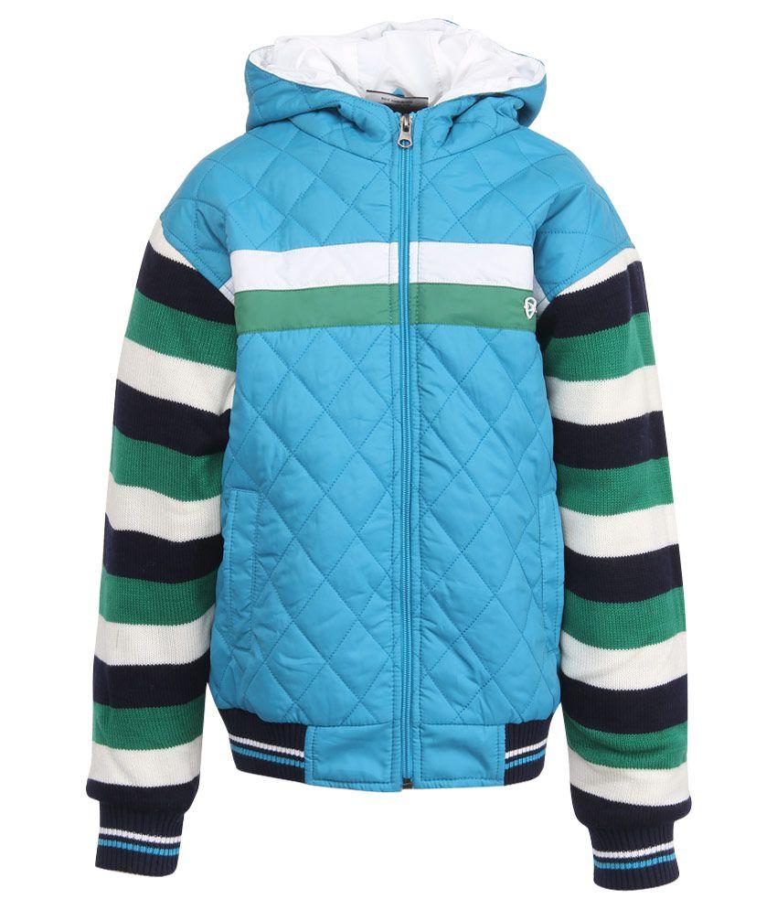 Duke Blue Polyester Hooded Jacket