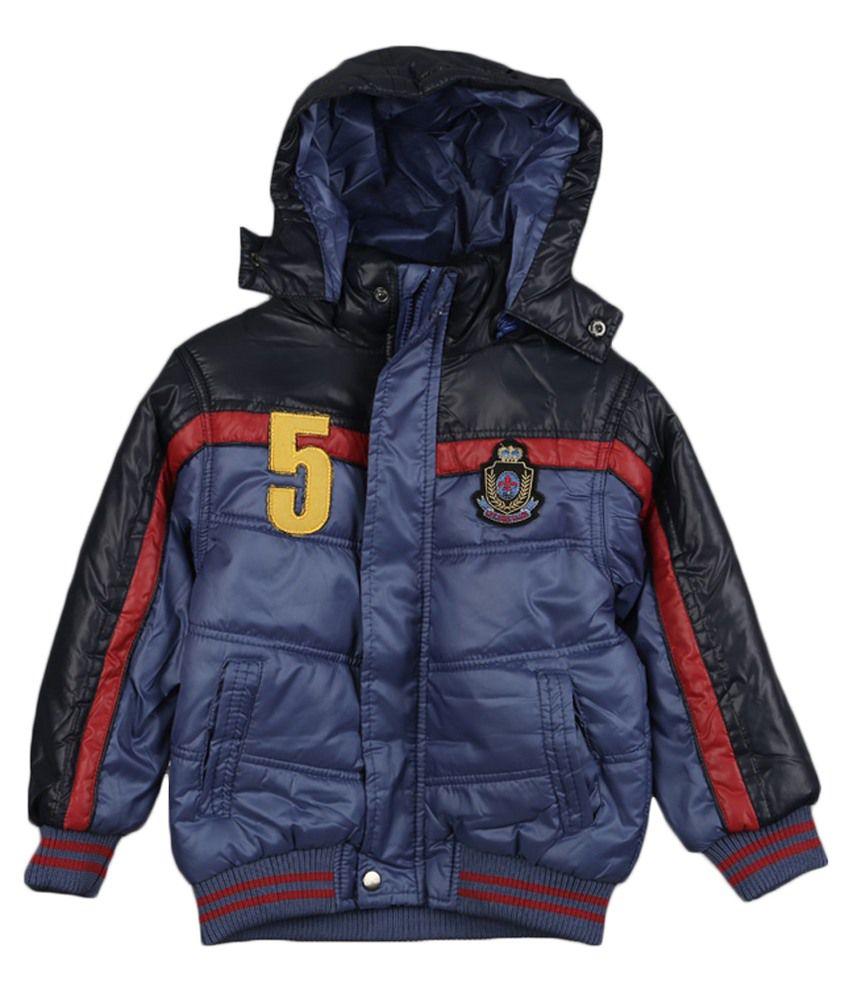 Lilliput Blue Viscose Padded Jacket