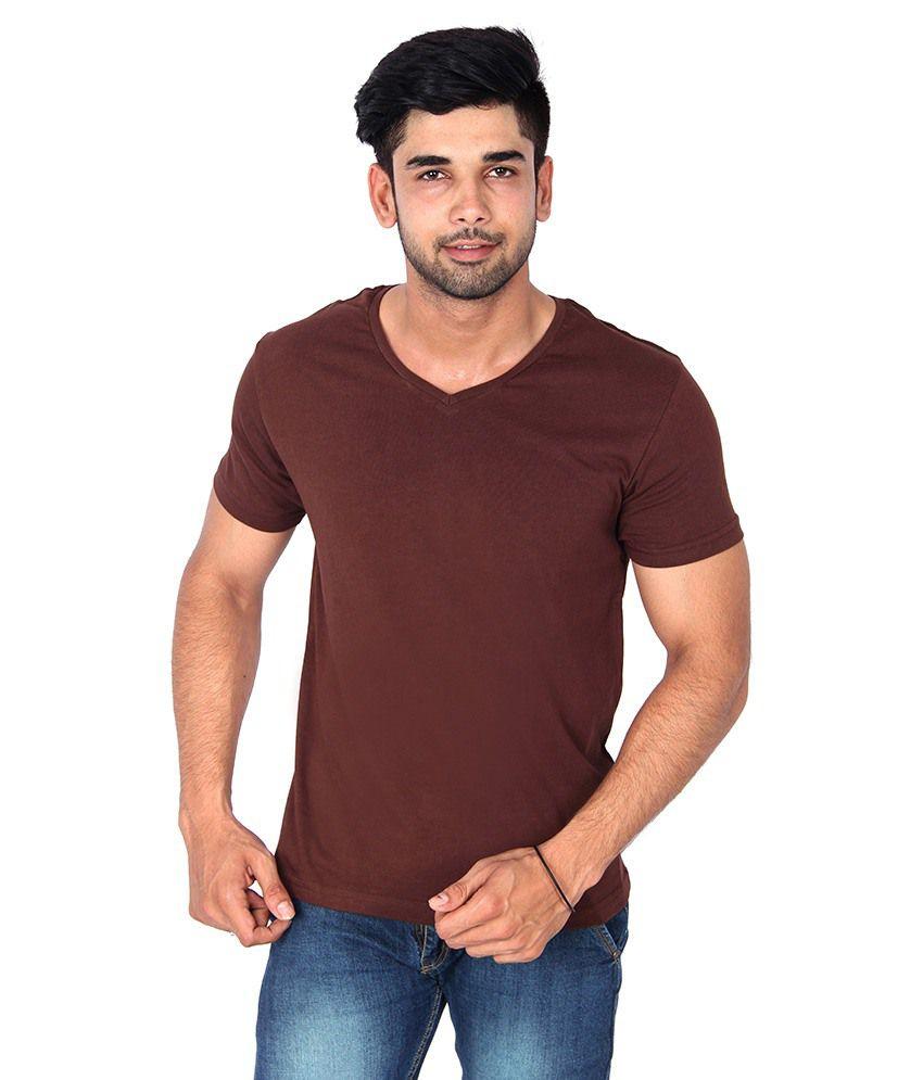 Nod'R Brown Cotton T Shirt