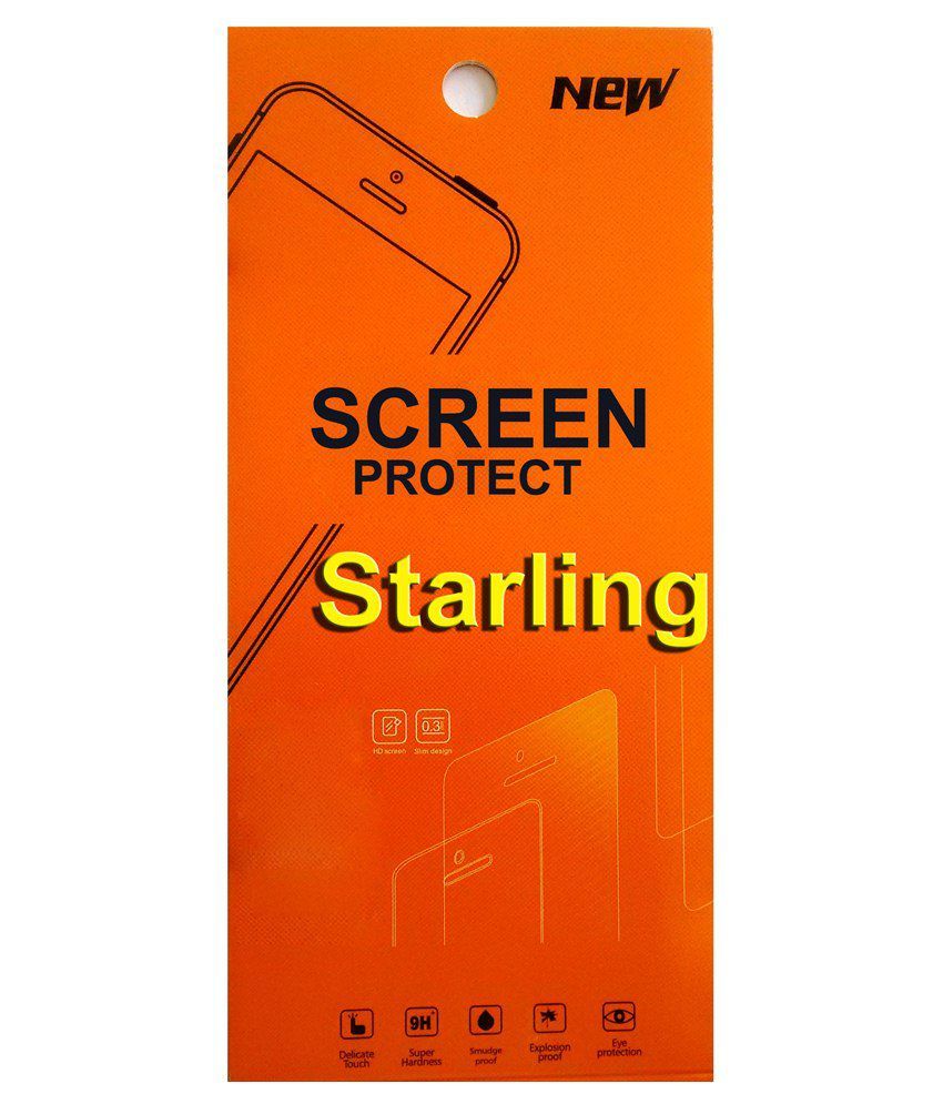 Starling Clear Screen Guard For Intex Cloud X3