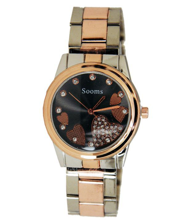 Sooms Brown Stainless Steel Analog Casual Watch