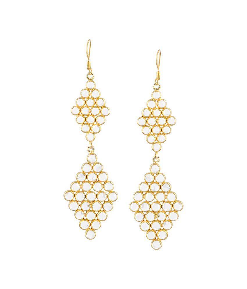 Jewels Of Jaipur Silver Antique Drop Earrings