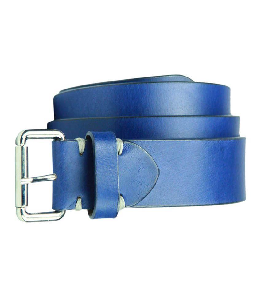 99cells Blue Leather Belt For Men