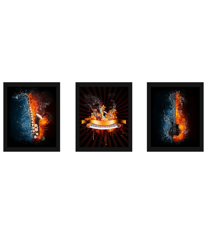 Wow Interiors And Decors Music Bang Paintings With Frame