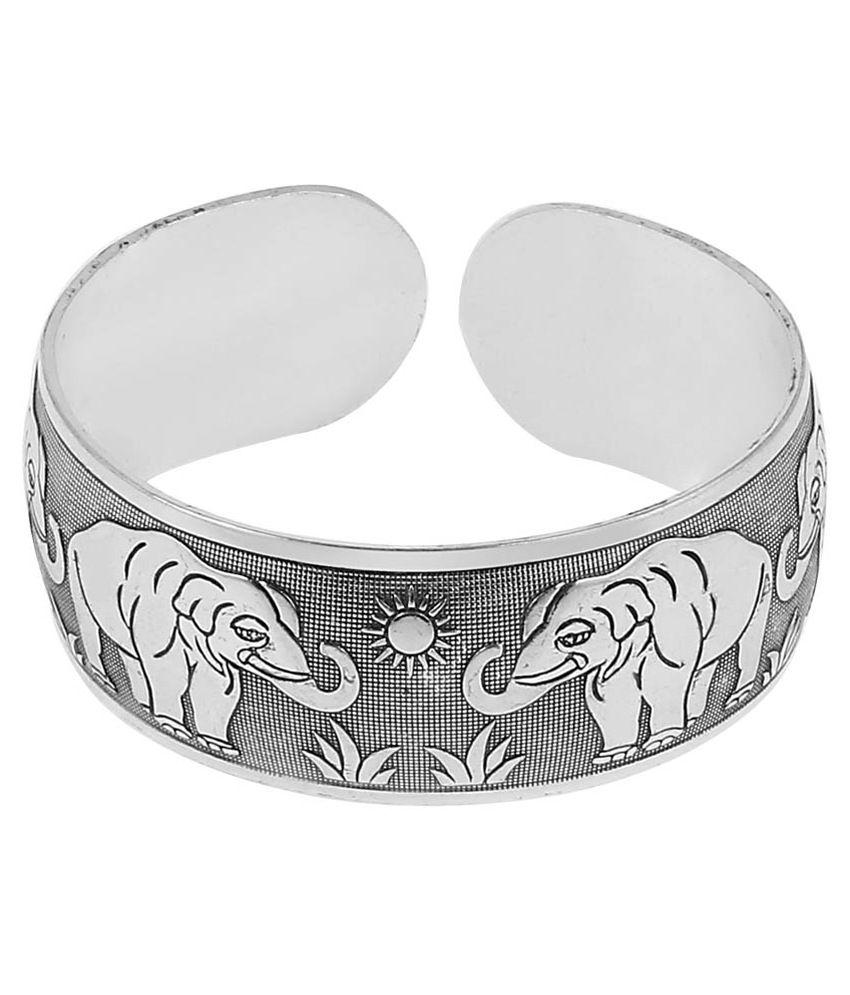 Jewelizer Silver Antique Cuff