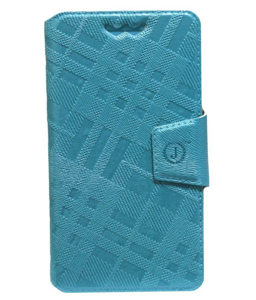 Jo Jo Flip Case Cover With Silicone Holder For Xolo A600-Blue