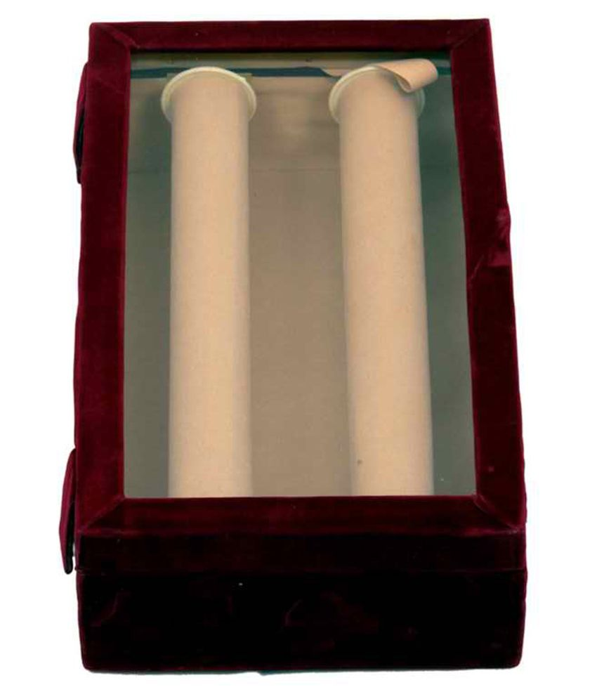 Kuber Industries Bangle Box Maroon Two Roll