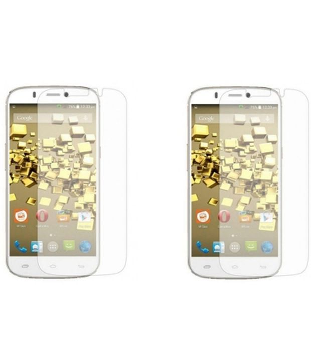 Bizarre Kraftz Screen Guards for Micromax A300 Canvas Gold (Pack of 2)