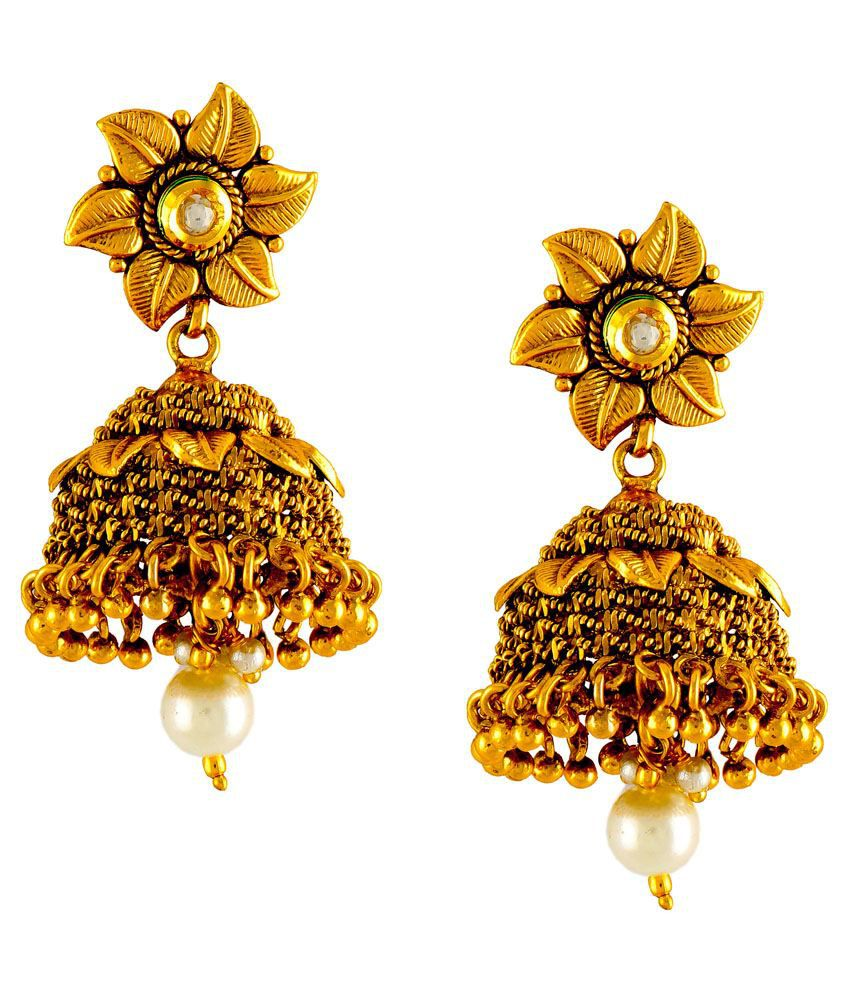 DG Jewels Golden Jhumkis