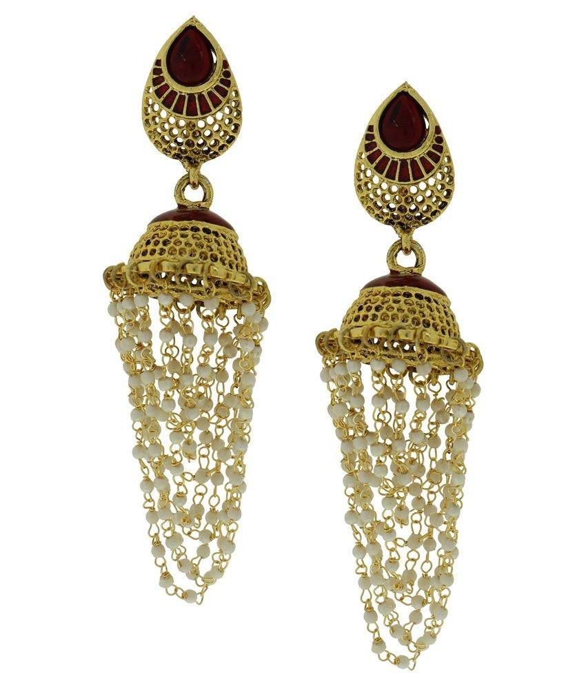 DG Jewels Multicolour Pearl Designer Jhumki
