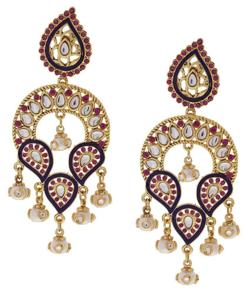 DG Jewels Multicolour Austrian Diamond Designer Hanging Earrings