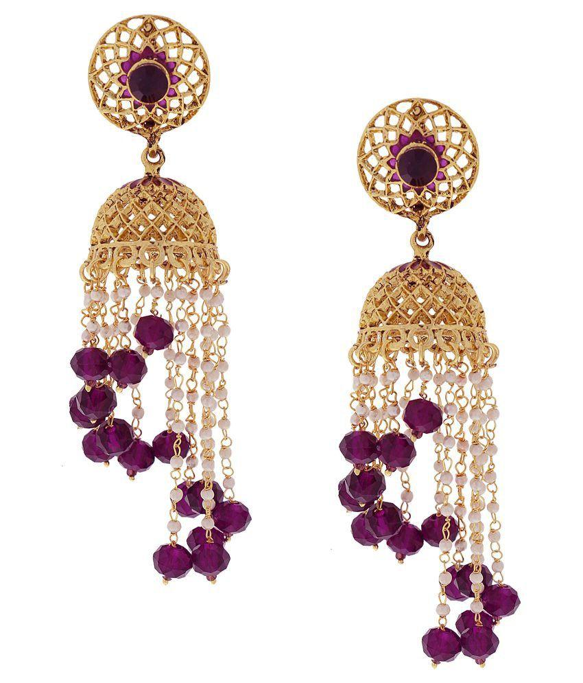 DG Jewels Multicolour Pearl Designer Jhumkis
