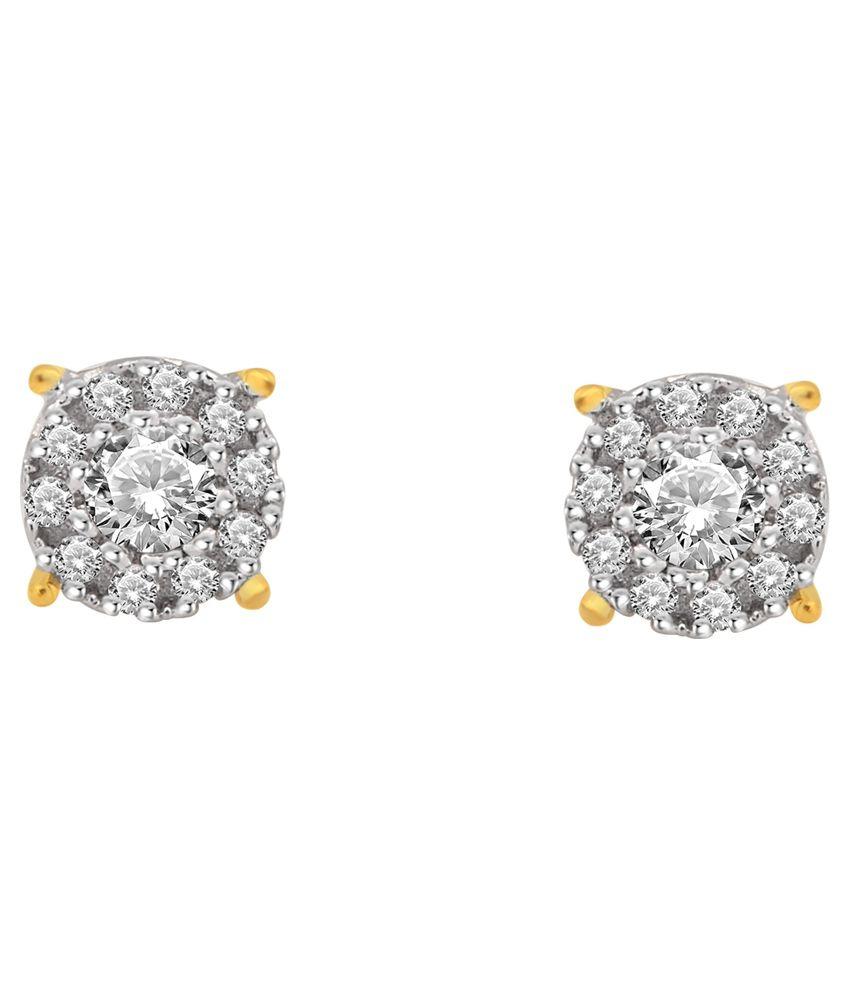 Daily Diamonds 14kt Gold Stud Earrings