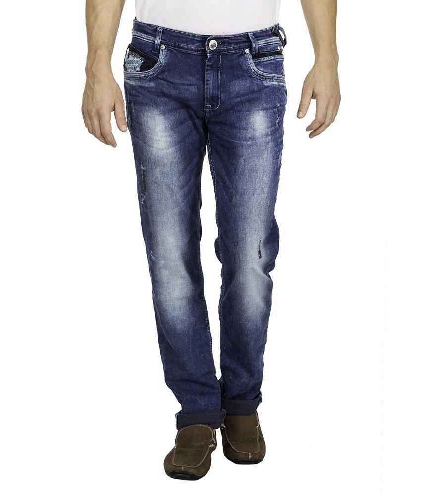 Mufti Blue Light Wash Regular Fit Jeans