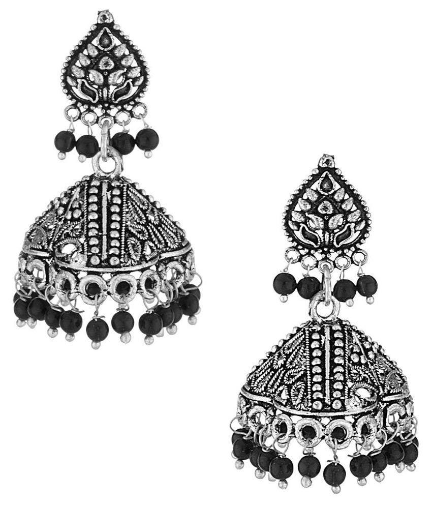 Voylla Alloy Jhumki Earrings