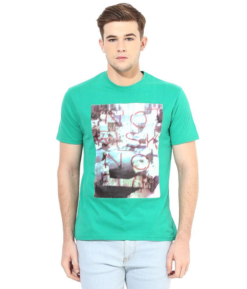 Cayman Green Men's Printed T-Shirt