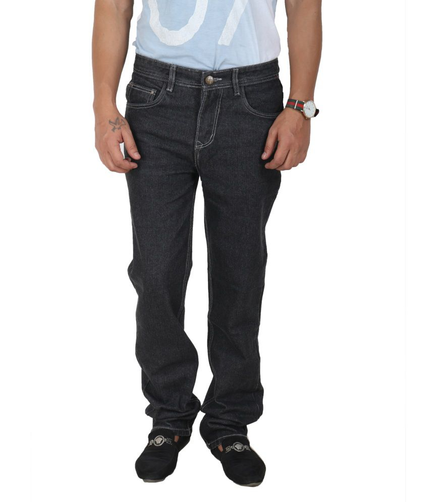 Crocks Club Black Regular Fit Jeans